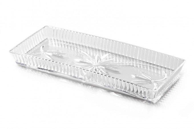 tabuleiro torta cristal