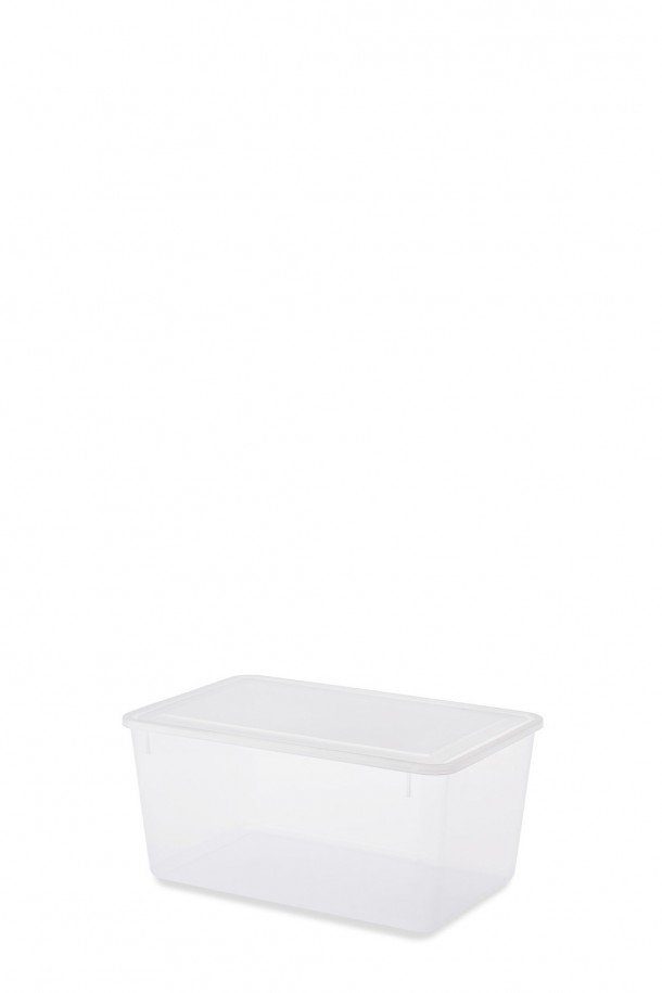 rectangular translucent box with lid
