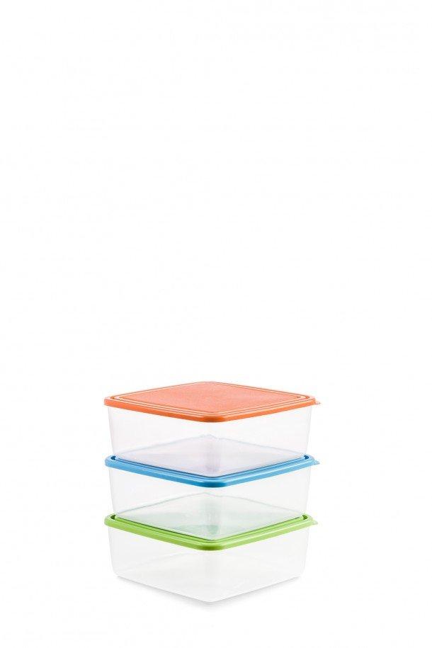 caixa quadrada 1,1 L c/ tampa